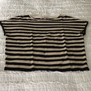 Loft short sleeve striped top
